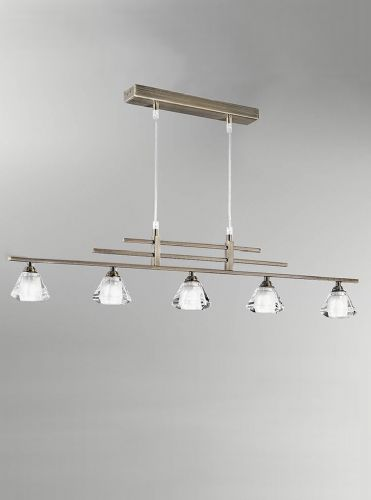 Franklite FL2248/5 Bronze Pendant Light (Class 2 Double Insulated)